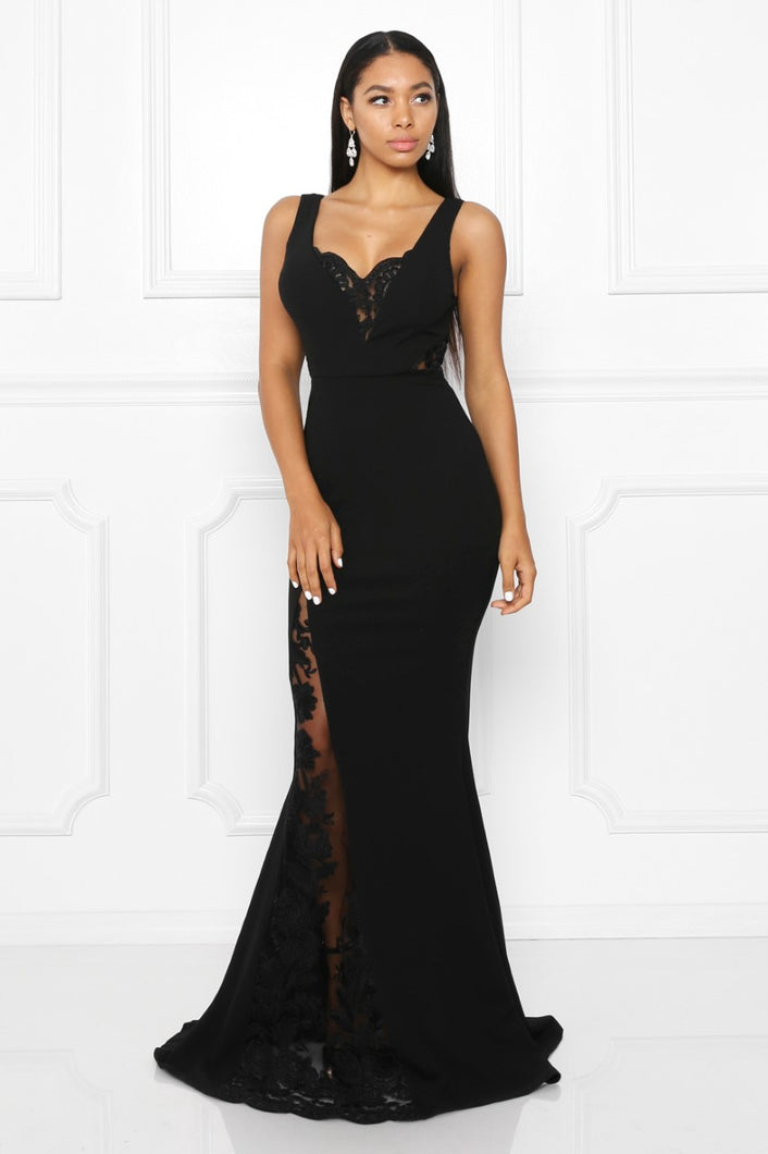 Queen Melinda Dress (Black)