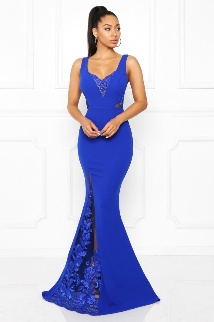 Queen Melinda Dress (Royal Blue)