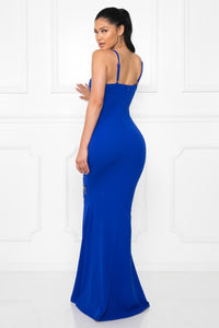 Queen Lilly Dress (Royal Blue)