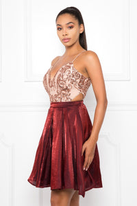 Make Way Dress (Burgundy)