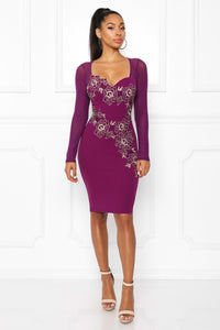 Princess Lilly Dress (Plum)