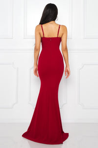 Queen Claudia Dress (Burgundy)