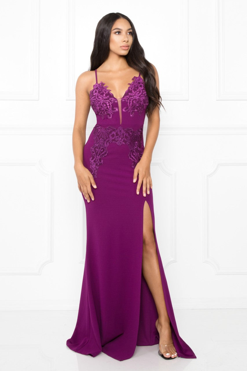 Queen Avery Dress (Plum)