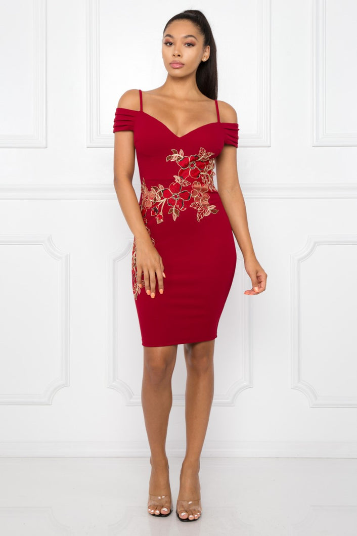 Almost Yours Dress (Burgundy)