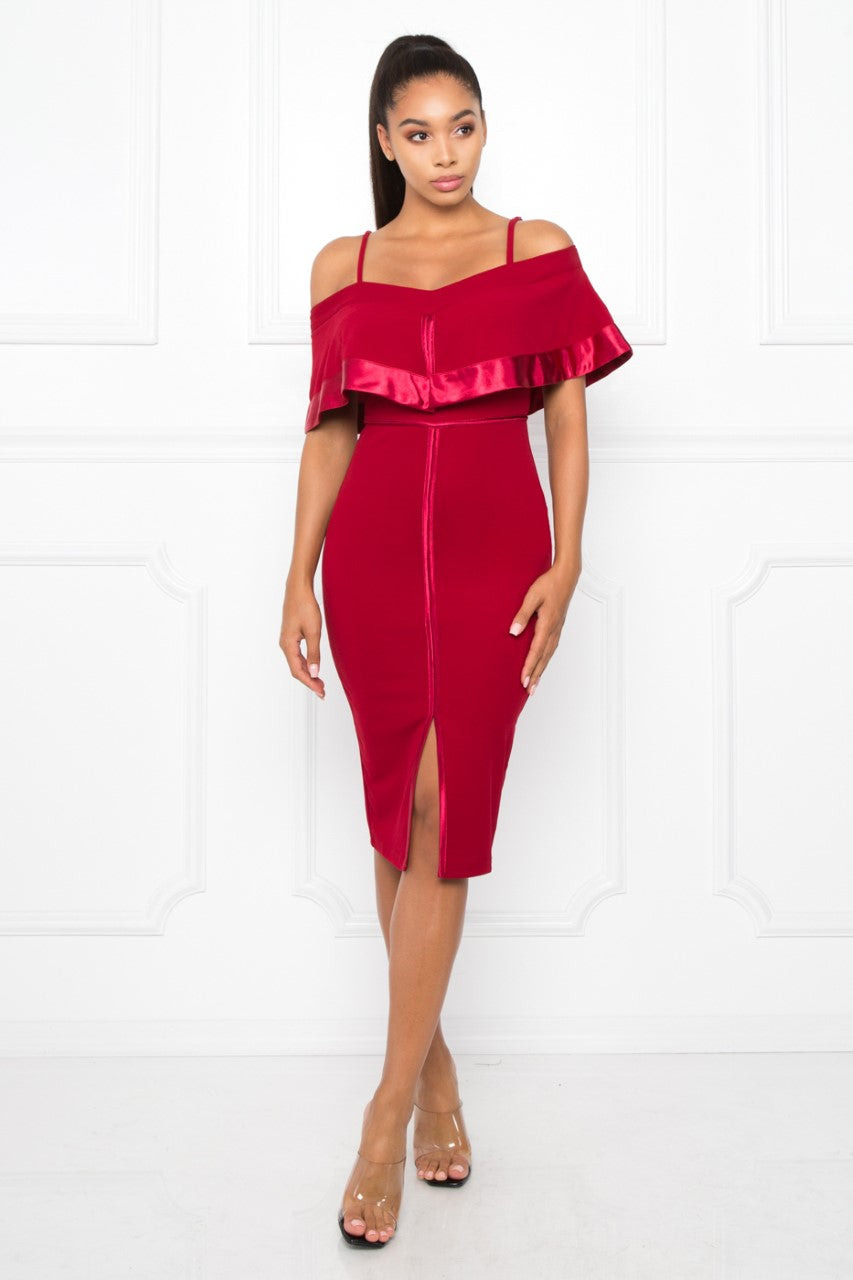 Crazy About You Dress (Burgundy)