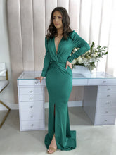 Load image into Gallery viewer, Queen Andrea Dress (Emerald)