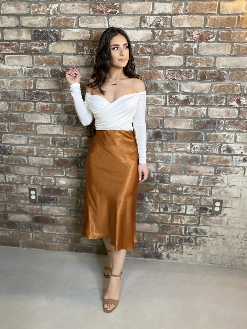 Sweet Beauty Skirt (Rust)