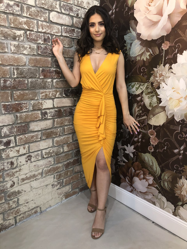 Sincerely Yours Dress (Yellow)