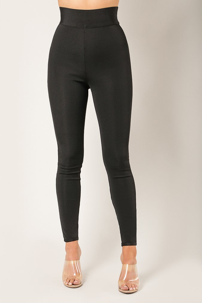 Fitted Bandage Pants (Black)
