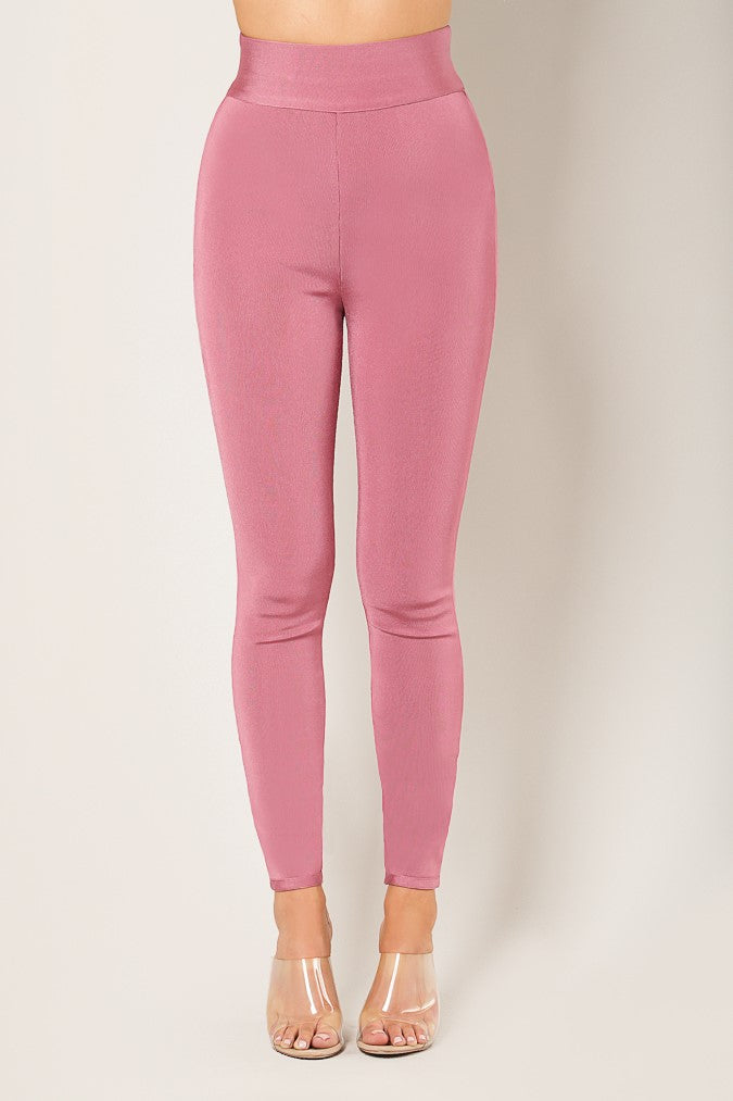 Fitted Bandage Pants (Mauve)