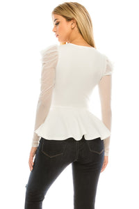 Just a Girl Top (White)