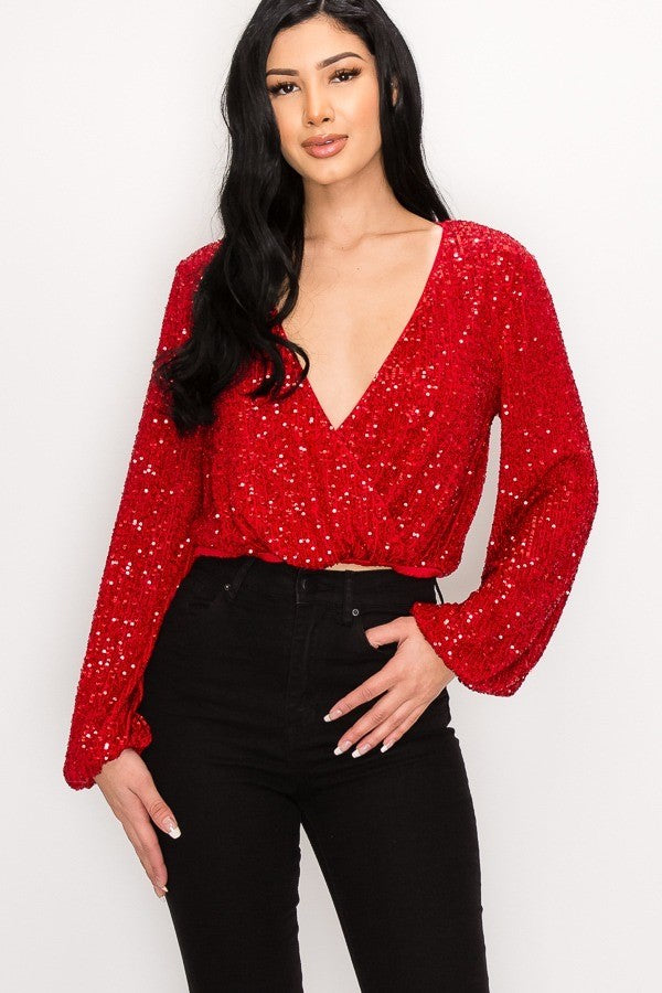 Shine Like Me Top (Red)