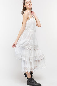 Country to City to Beach White eyelet dress