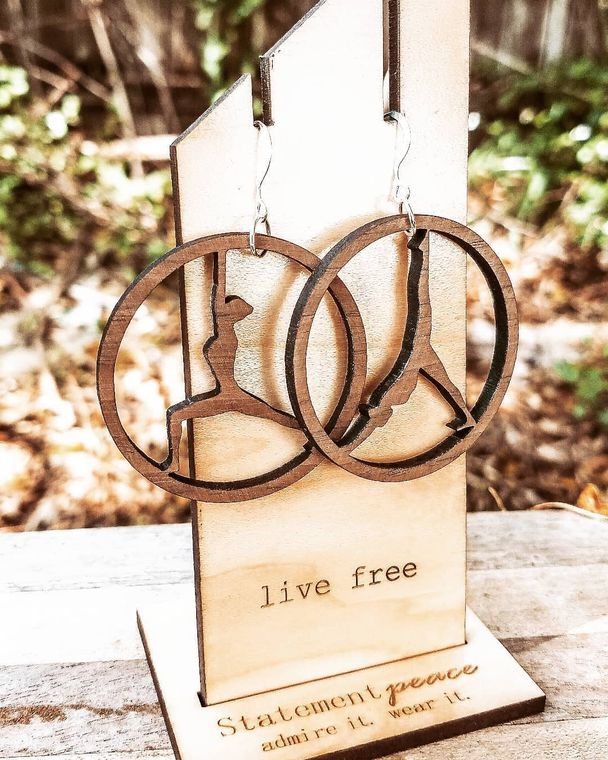 Handmade Yoga Hoops with Stand