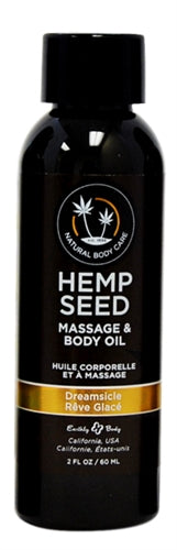 Hemp Seed Massage Oil - 2 Fl. Oz. - Dreamsicle - My sheree and More