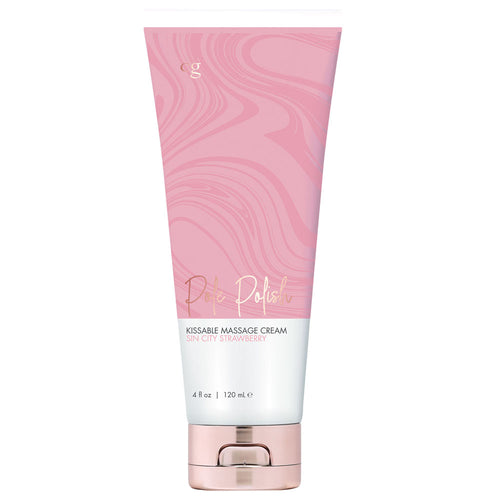 Pole Polish Kissable Massage Cream Cin Sity Strawberry 4 Fl Oz. - My sheree and More
