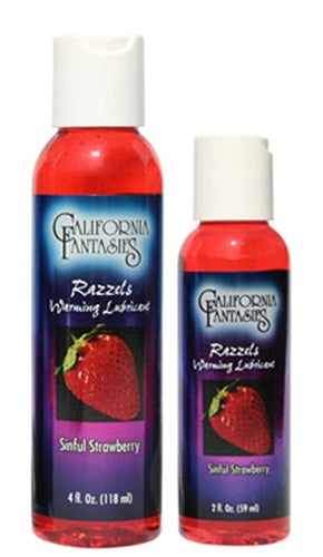 Razzels Warming Lubricant - Sinful Strawberry - 2 Oz. Bottle - My sheree and More