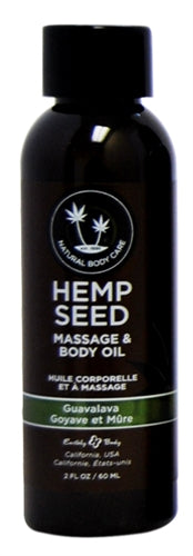 Hemp Seed Massage Oil - 2 Fl. Oz. - Guavalava - My sheree and More
