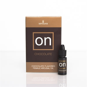 On Chocolate Flavored Female Arousal Oil - .17 Oz. - Large Box - My sheree and More
