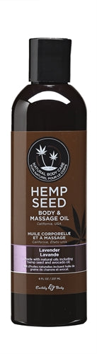 Hemp Seed Massage Oil - 8 Fl. Oz. - Lavender - My sheree and More