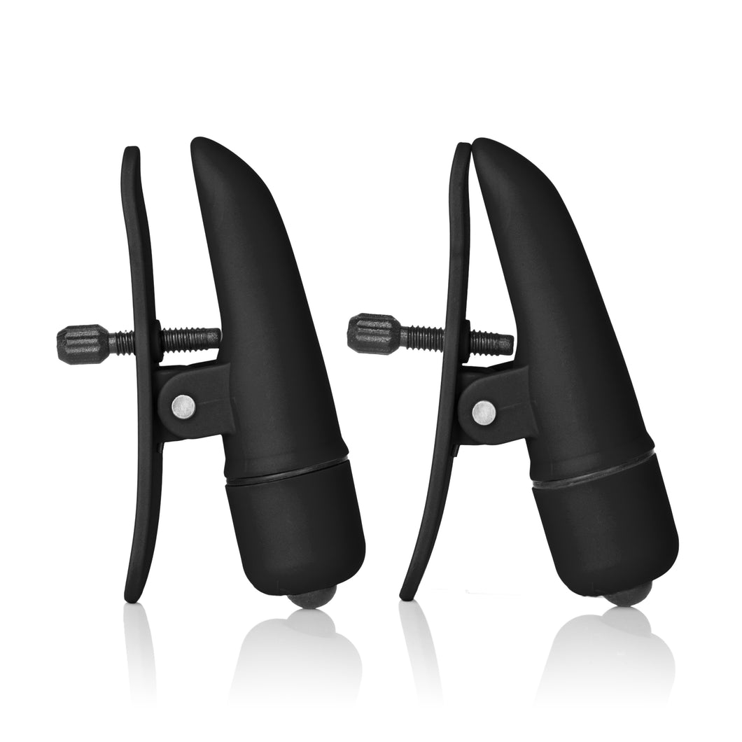 Nipple Play Nipplettes Vibrating Nipple  Clamps - Black - My sheree and More