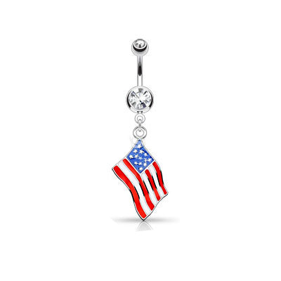 National Flag Surgical Steel Belly Button Rings - My sheree and More