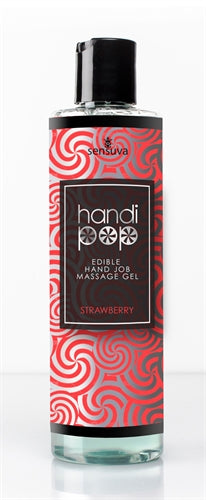 Handi Pop Handjob Massage Gel - Strawberry - 4.2 Oz. - My sheree and More