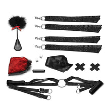 Load image into Gallery viewer, Night of Romance Satin Cuffs With Rose Petals 6pc BedSpreader  Set - My sheree and More