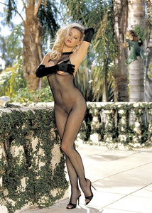 Fishnet Halter Body Stocking  - One Size - Black HOT-90061BLK