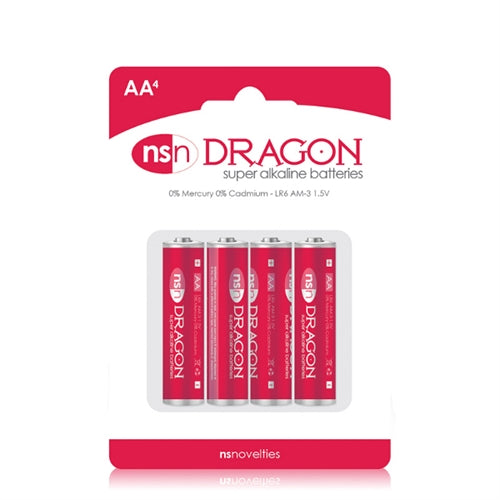 Dragon - Alkaline Batteries - AA - 4 Pack - My sheree and More