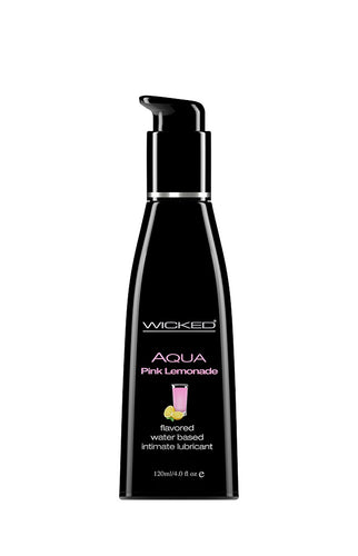 Aqua Pink Lemonade Flavored Water Based  Lubricant - 4 Oz. / 120 ml - My sheree and More
