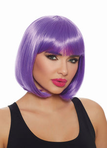 Dreamgirl Mid Length Ultra Violet Bob Wig - My sheree and More