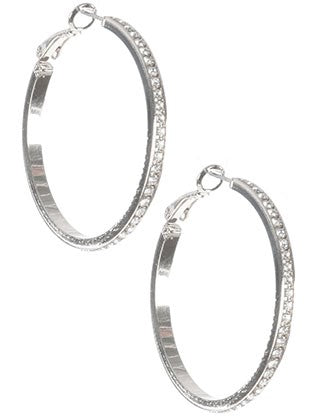 Crystal Stone hoop Earrings - My sheree and More
