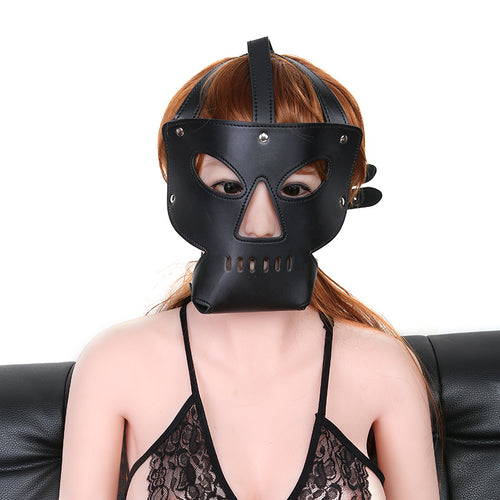 Halloween Black Leather Cage Mask - My sheree and More