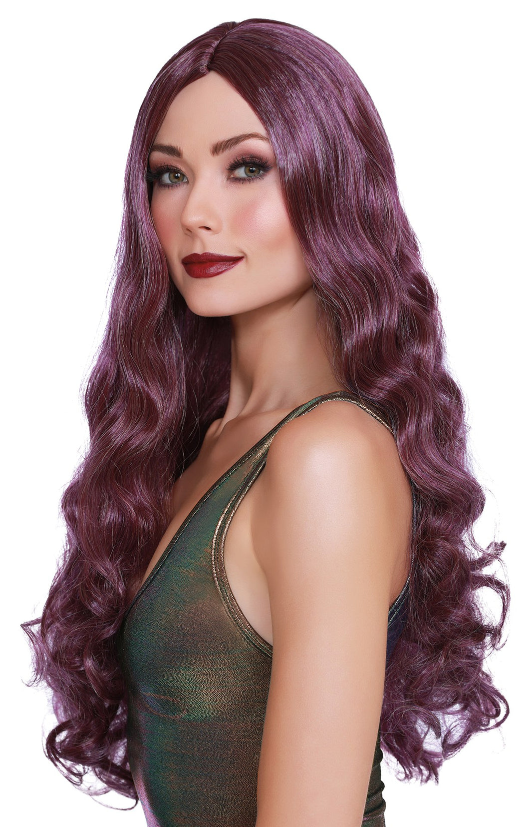Long Wavy Wig - Purple - My sheree and More