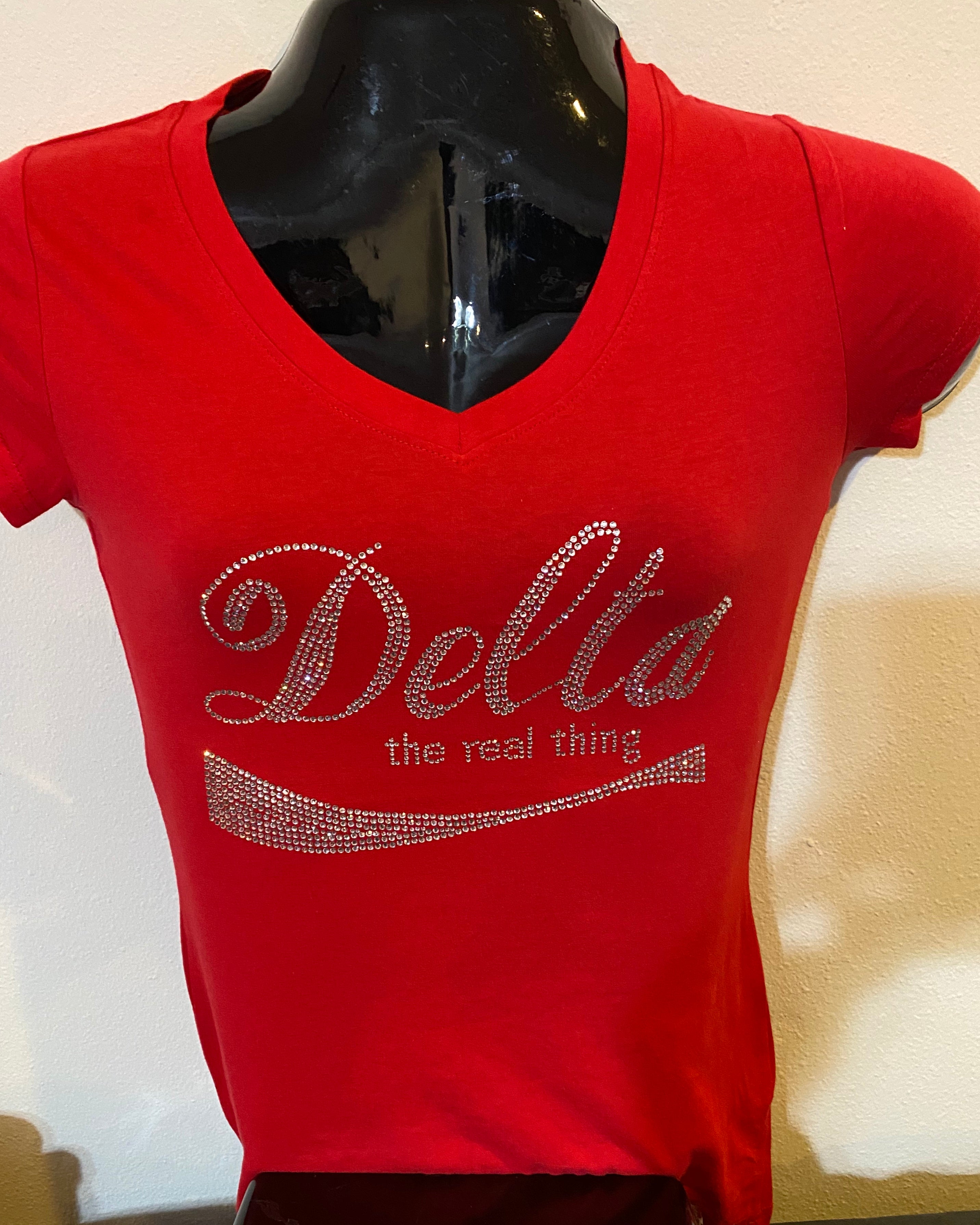 A Delta the real thing V-neck shirt