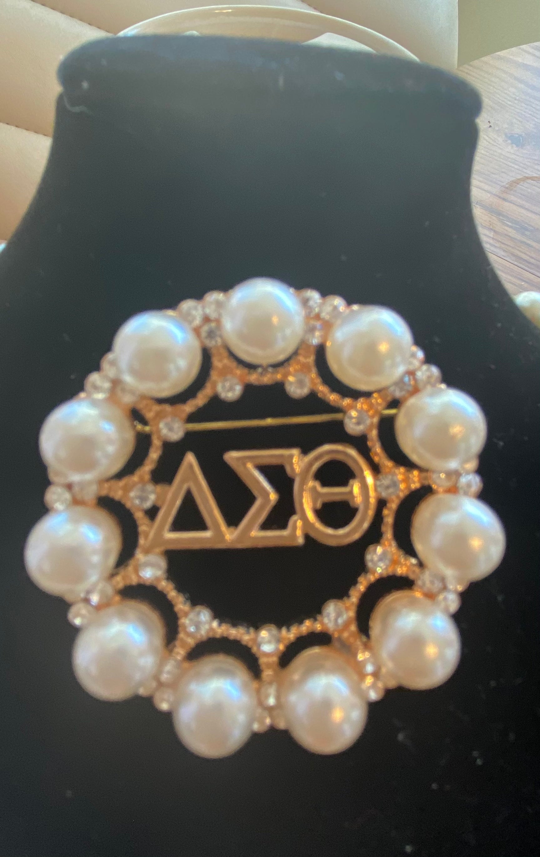 A Beautiful Delta Pearl Pin