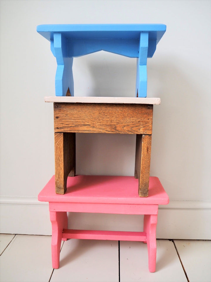 Vintage children's stools