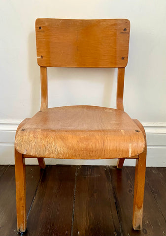 Vintage wooden toddler's chair