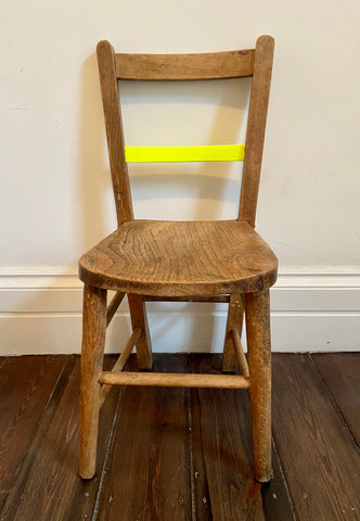 The Sherbert - Vintage painted neon yellow child's chair