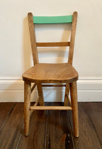 The Eat your Greens - Vintage, painted child's chair