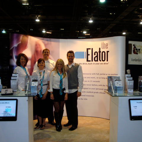 THE ELATOR EXHIBITS IN LAS VEGAS DURING THE ANNUAL ANE SHOW