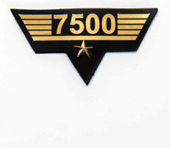 Flight Hours Patch - 7,500 hours