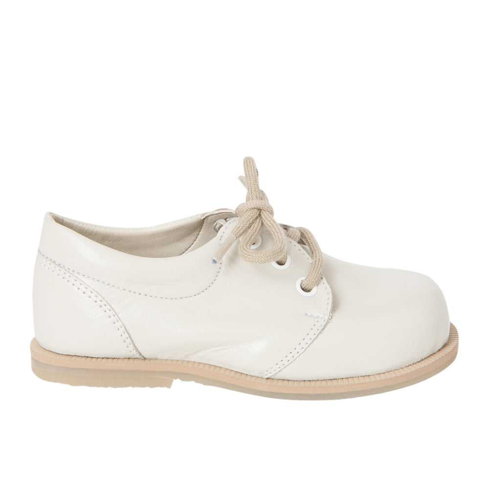 Ivory Leather Brogues