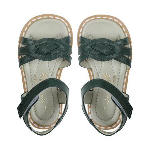 Lulu Dark Green Sandals