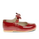 Red Bow Patent Mary-Jane Shoes