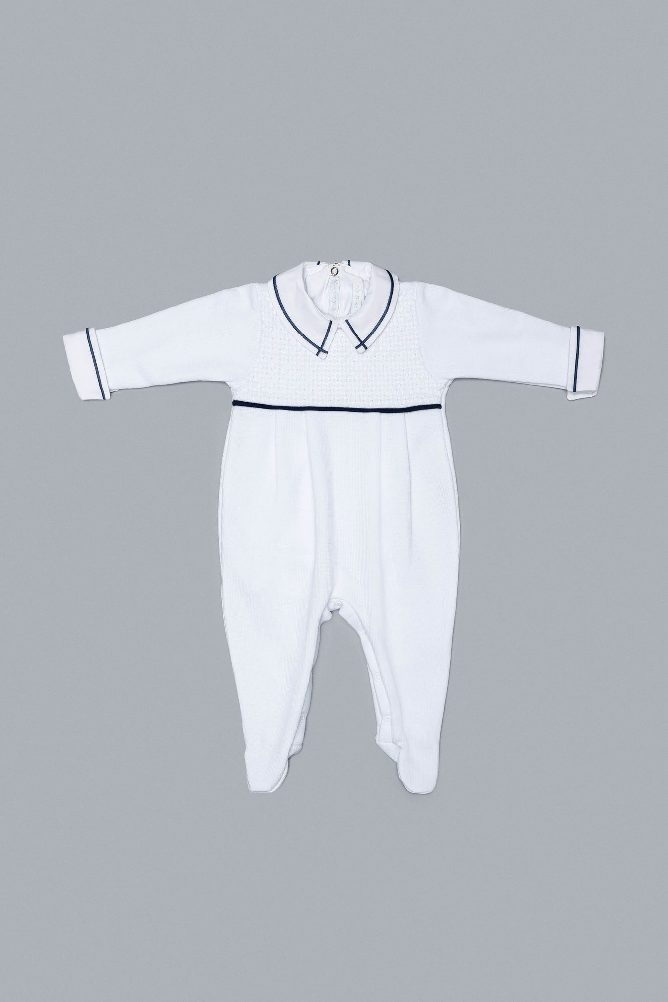 White and Blue Babygrow Set for Boys and Girls
