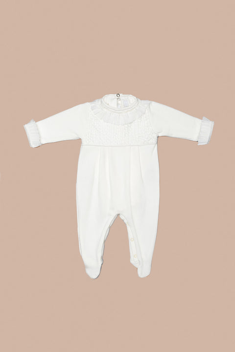 White Babygrow Set for Girls