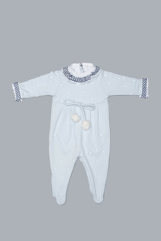 Blue and Navy Babygrow Set for Girls