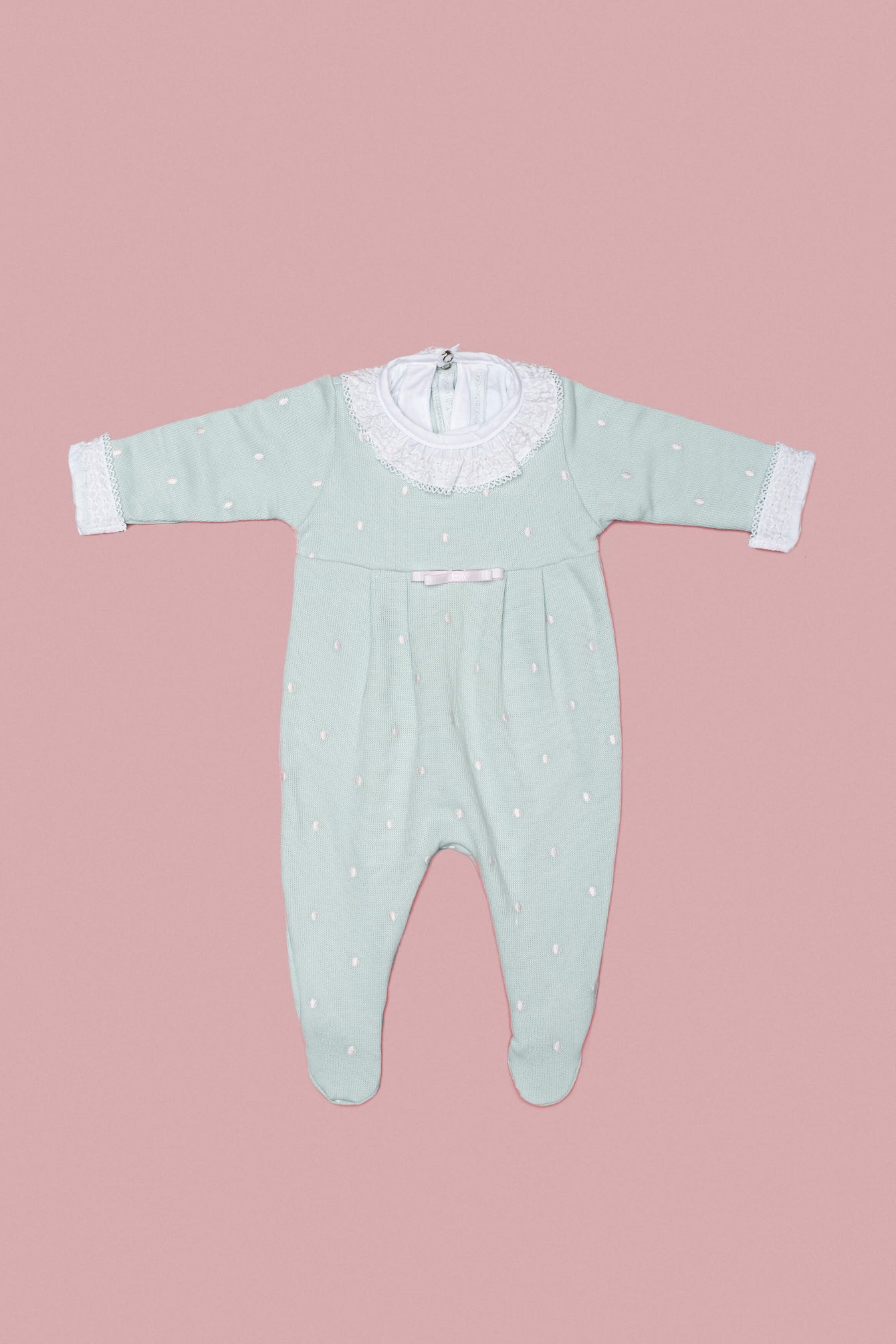 Light Green and Pink Babygrow Set for Girls